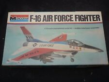 A Monogram un built plastic kit of a F-16 Air force fighter, Boxed