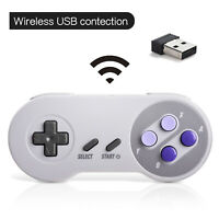 Wireless Classic USB SNES Controller Joypad For PC / MAC Super Nintendo Games