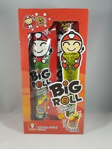 TAO KAE NOI Grilled Seaweed Big Roll Spicy Flavor 9 Packets FREE SHIPPING