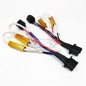HID LED Resistor Kit Relay Harness Adapter Anti Flicker Error Decoder H13 9008