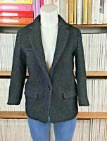 ISABEL MARANT x H&M UK 6 US 2 Jacket Blazer Boys Wool Cropped Shunk Herringbone
