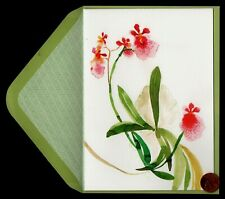 Papyrus Pink Orchid Tolumnia Jairak Rainbow - Large - Greeting Blank Note Card