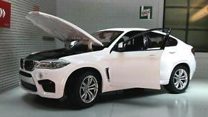 1:24 BMW X6 X6M 4x4 White 2018 4.4 V8 F16 Rastar Diecast Scale Detailed Model