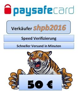 Paysafe Card, Paysafecard 50€ für 62€ - Sofortversand - 9-23Uhr + 24h Service