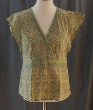 American Eagle Outfitters, Size 12, Olive Multi Cross Front Top