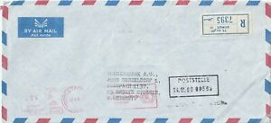 1980 Kuwait oversize registered cover sent to Dusseldorf Germany