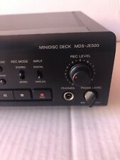 Sony Mds-Je500 Minidisc Player. Cds 2 Mz-E40. Original Box. Tested