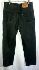 VINTAGE LEVI's USA 550 Faded Black Denim Jeans Tapered Leg Relaxed Fit-Men 34x32