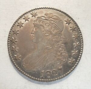 1827 - Capped Bust Half Dollar - 50¢ - Silver Coin - Square 2