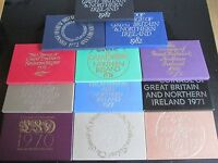1971 GREAT BRITAIN PROOF YEAR SET - perfect for birthdays good condition ! uk