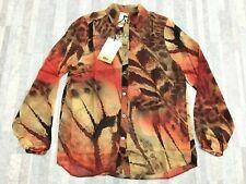 NEW Da-Nang Surplus Women's Multi 416 Long Sleeve Blouse GGT2405 MEDIUM/ M