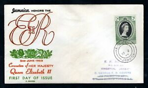 Jamaica - 1953 QE2 Coronation Illustrated First Day Cover