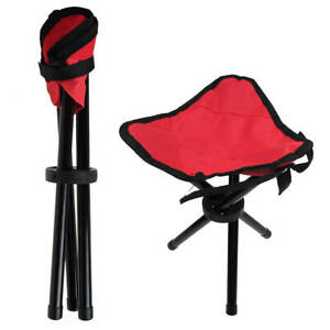 Outdoor Travel Folding Tripod Seat Camping Hiking Fishing Stool Picnic BBQ Chair