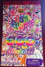 NEW LISA FRANK PEACE,KITTENS,UNICORN,PUPPIES SPARKLE 600 + sticker book 5 sheet
