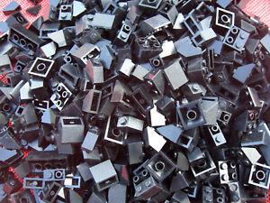 100 schwarze Lego Basic Dachsteine / Dachziegel  City Haus Schrägsteine 45° L005
