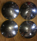 Set 4 Chevy Dogdish Baby Moon Hubcaps Oem 15 Stainless 1970s Factory Nova