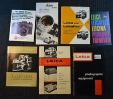 Leica Camera Ephemera Catalog Lot Vintage 35 36 37 41 ca. 1960+ lenses  R3 etc.