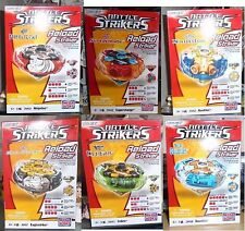 Lot lotto stock 6 pezzi Battle Strikers Tubo Tops  trottola Mega bloks