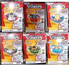 Lot lotto stock 6 pezzi Battle Strikers Tubo Tops  trottola Mega bloks