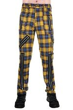 Yellow Tartan Zip Bondage Pants. Punk