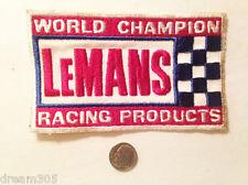 """LARGE Vintage LeMans Race Car Steve Mcqueen / Motorcycle Patch 5""""x3"""""""
