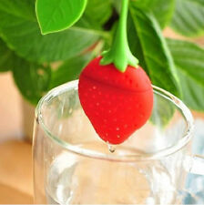 Tea Infuser Boule Filtre passe Passoire Spoon silicone Strawberry Tea Infuser