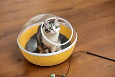 Pet house  cat cave cat bed with clear top suitable for small pets -Yellow
