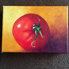 Original Small Acrylic Painting Tomato Italian Cuisine Food by Marsha Mahan
