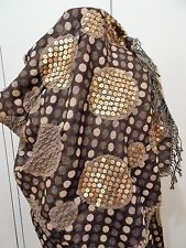 *AS NEW Coussinet Brown Pure Wool 66cm X 188cm Oblong Shawl