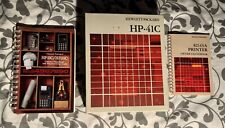 "HP-41C Module case overlay manuals Box Hewlett-Packard 2 Extra Manuals ""No Calc"""