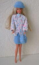 Puppenkleidung 4tlg passend für Barbie Rock,Jacke,Käppi,Beutel,Handarbeit 6227