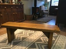 X-Wide 4ft Rustic Reclaimed Solid Pine Vintage Dining Plank Table Chair BENCH