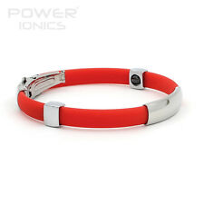 Power Ionics Titanium Magnetic Bracelet Band Balance Sport Health Body Red