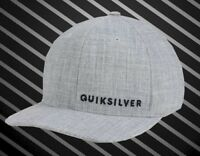 New Quiksilver Sideliner Heather Gray Flex Mens Cap Hat