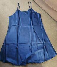 NEW Silky Blue Night Dress/Slip - 3XL - 21 Inch Chest