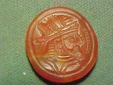 Sassanian  intaglio of carnelian (Male bust) circa 224-642AD