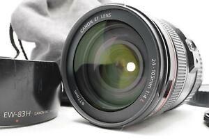 [Mint W/Custodia Cappuccio] Canon Ef 24-105mm F/4l Is USM Zoom Lenti EW-83H Da