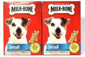 (2 Pack) Milk Bone Cleans Teeth Freshens Breath Small Biscuits Dog Snacks 24 Oz
