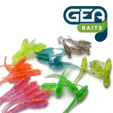 1 Pack (10) - 50mm Mixed Colour Stinger Soft Silicone Tail Grubs