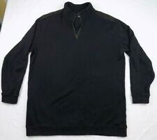 SYNRGY Black 1/4 Zip Long Sleeves Pullover Sweater Mens Size 2XLT