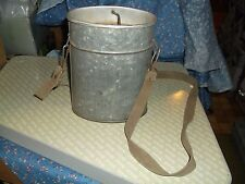 Vintage Wade-In Galvanized Fishing Bait Box Container Top Airholes Lifts Off