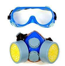 Reutilizable Polvo Mascarilla Respirador válvula Set Par Protector Ojo Gafas ajustadas de seguridad