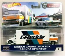 HOT WHEELS GREDDY NISSAN LAUREL & SAKURA SPRINTER. CAR CULTURE TEAM TRANSPORT #2