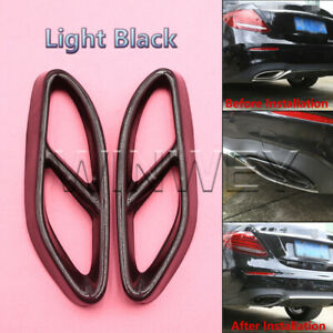 Car Exhaust Pipe Tail Cover Trim For Mercedes Benz W205 W176 CLA GLC GLE GLS