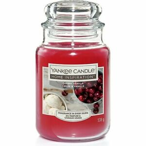 Yankee Candle Home Inspiration Cherry Vanilla Large Jar Candle New