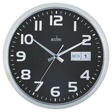 Acctim Chrome/Black Supervisor Wall Clock 320mm 21023 [ANG21023]