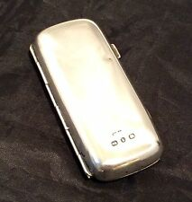 Genuine Vintage Hallmarked Silver Cigarette Case 1901 By WH Leather Birmingham