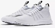 NEW MEN'S NIKE FREE HYPERVENOM 2 FS WHITE METALLIC SILVER 805890-101 Sz 8.5