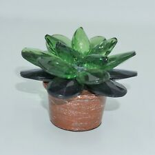 Ganz Crystal Expressions Succulent Potted Plant Acrylic Figure Collectible NEW