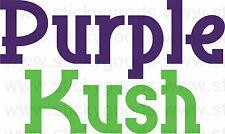 Purple Kush Vinyl Decal Sticker Glass Water Pipes Glass Stash Box Jar Ash Tray